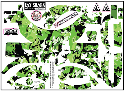 f56f4e598025 Fat Shark Army Camo Green Black White – NX Graphics Print and Custom ...